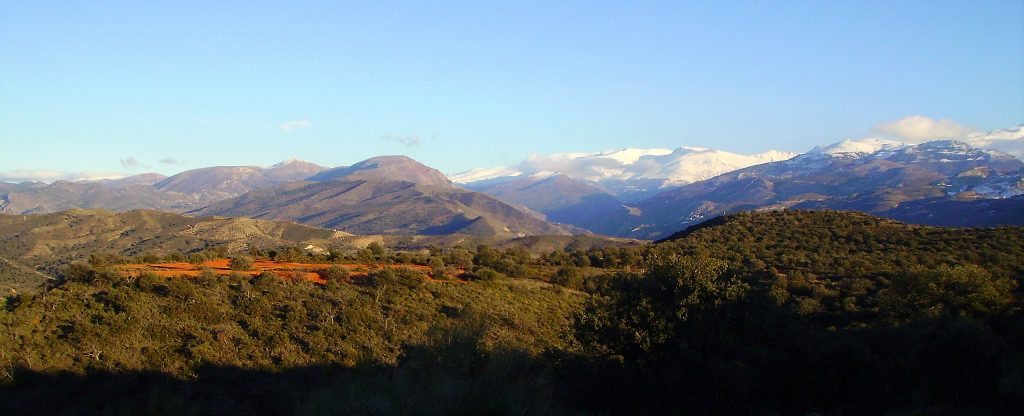 Vista de Sierra Nevada desde el Llano de la Perdiz. Vía Pentax