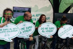 bicicleta solidaria en el puig